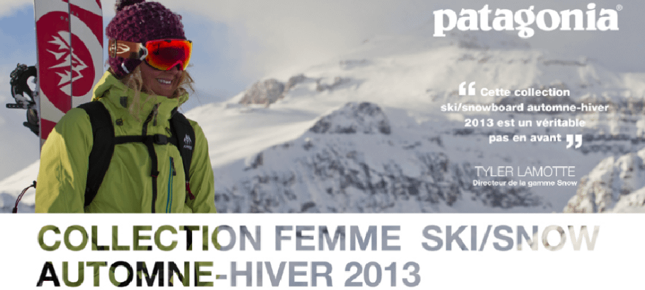 Collection Automne hiver 2013 Patagonia